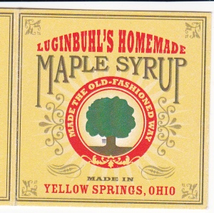 Maple syrup label