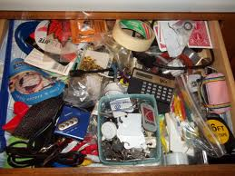 This is not my junk drawer, but it's pretty close!