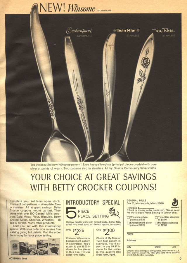 betty-crocker-coupons-flatware-vintage-ad