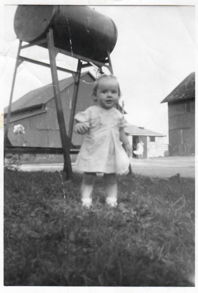 Ruth and Grandma Ruth at the barn